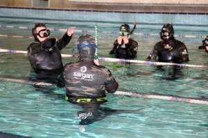 Вариант теста PWC у занимающихся подводным спортом