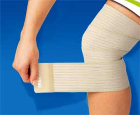 Тейповая повязка при травме связок голеностопного сустава